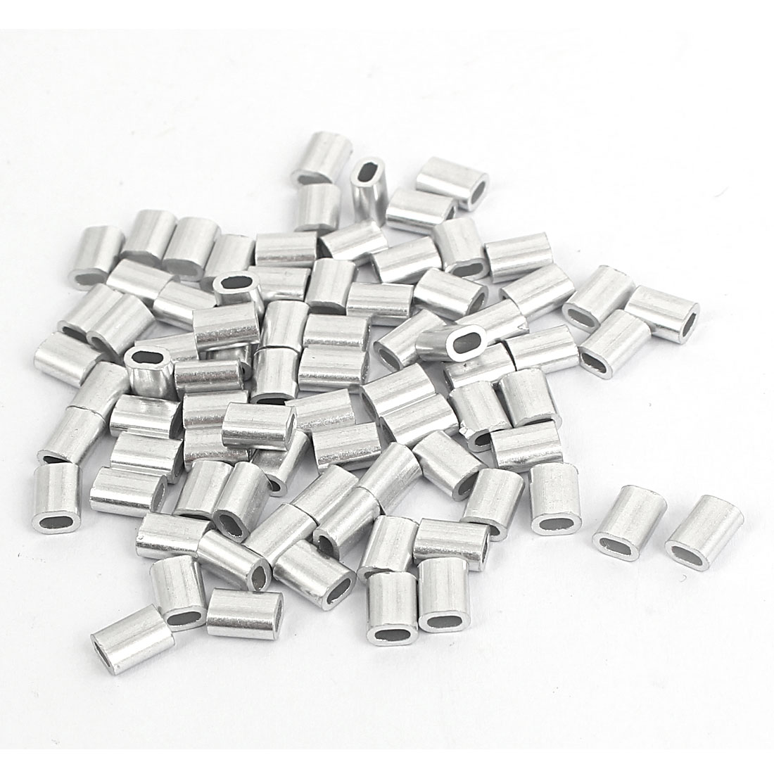 M1.2 Wire Rope Aluminum Sleeves Clip Fitting Loop Sleeve Cable Crimps 80pcs