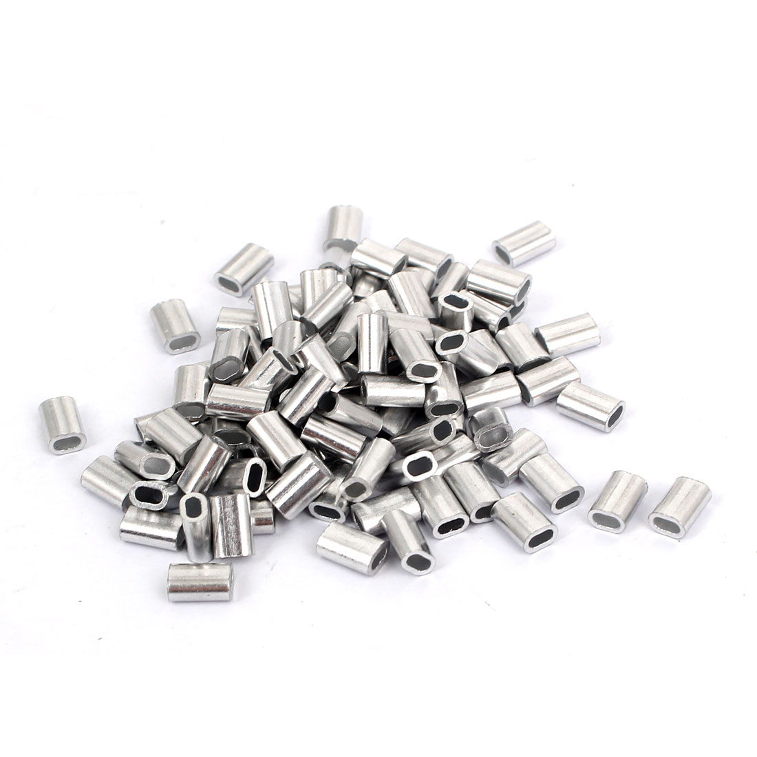 M1.5 Aluminium Wire Rope Sleeves Ferrule Fittings Loop Cable Crimps 100 Pcs