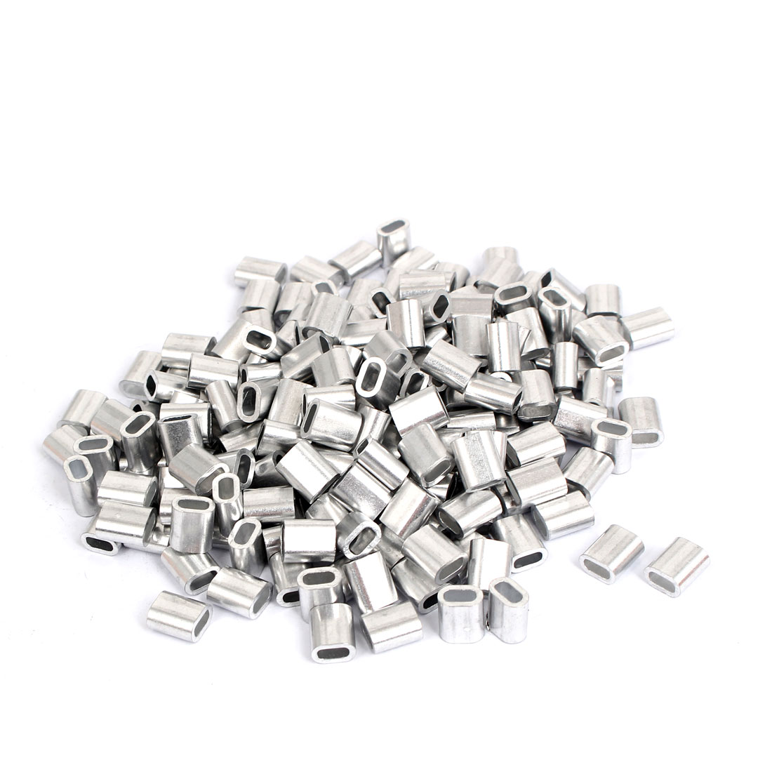 M2.5 Aluminum Cable Sleeves Wire Rope Stops Ferrules 200pcs