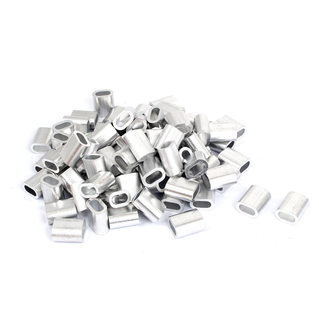 80 Pcs Aluminium Wire Rope Ferrules Crimping sleeves for 6mm Steel Cable