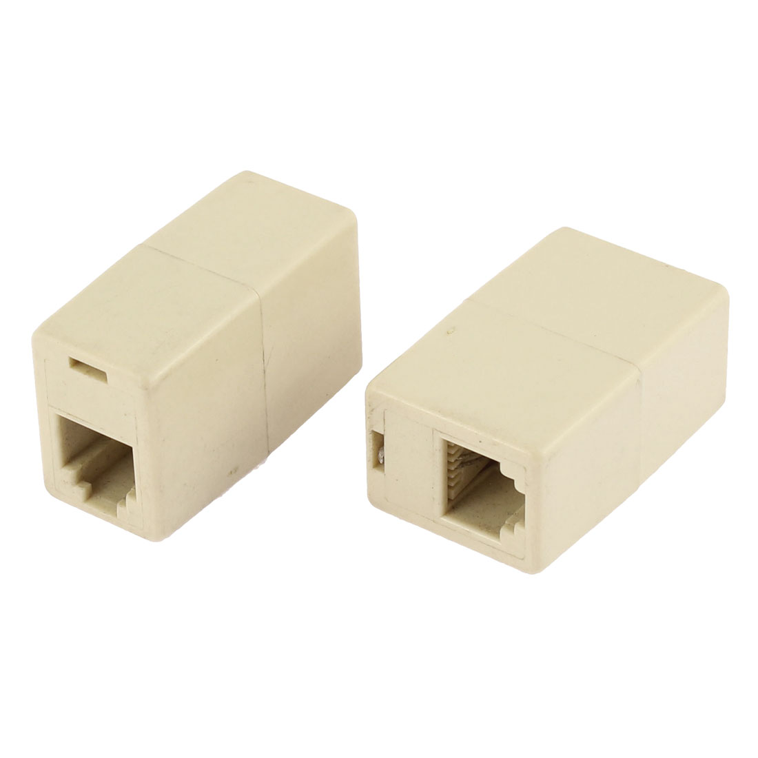 RJ11 6P2C Female to Female Telephone Splitter Connector Adapter 2PCS
