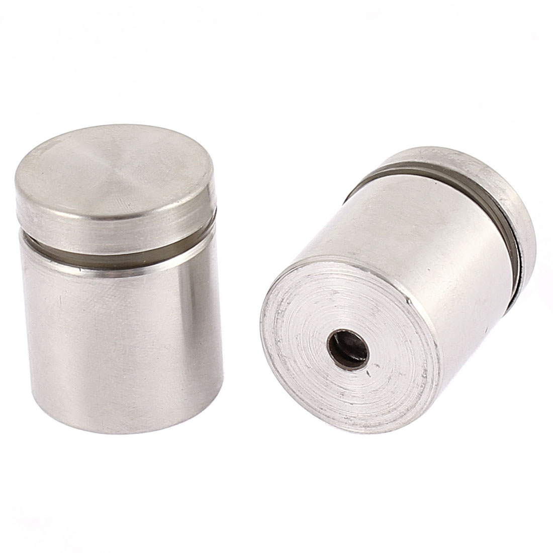 25mm x 30mm Stainless Steel Advertising Nail Glass Standoff Connector 2PCS