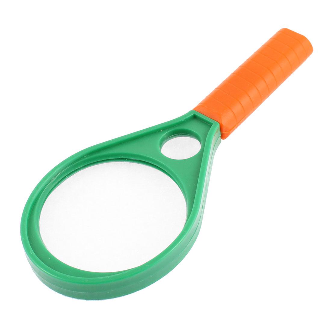 Racket Shaped Nonslip Grip 75mm Lens Handheld Reading Magnifying Glass Magnifier 3X