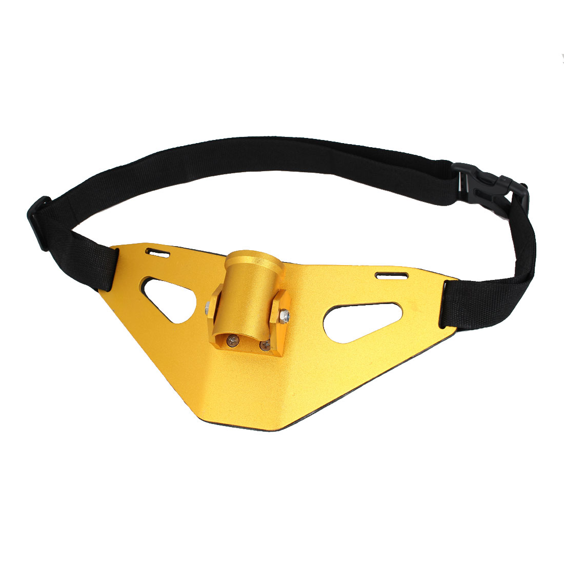 Fishing Rod Pole Stand Holder Padded Adjustable Waist Belt Harness Yellow