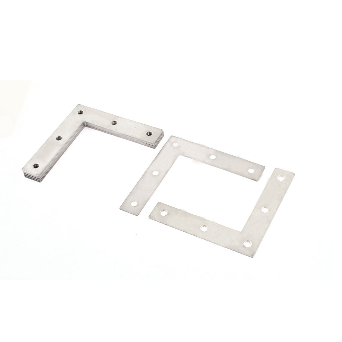 8cm x 1.5cm x 8cm Furniture L Shape Shelf Support Corner Brace Joint Metal Right Angle Bracket Fastener 10 Pcs