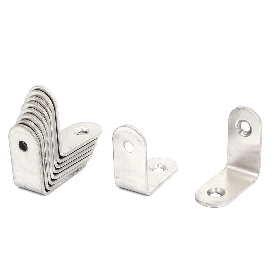 Furniture L Shape Shelf Support Corner Brace Joint Metal Right Angle Bracket Fastener 30mm x 16mm x 30mm 10 Pcs