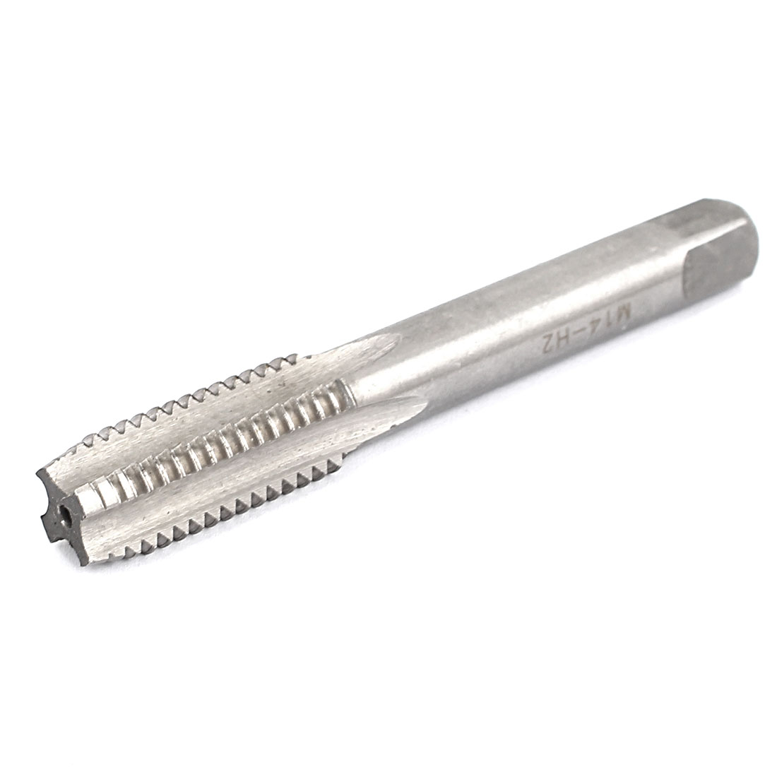 M14 14mm Cutting Dia 4 Flutes HSS Round Shank Machine Screw Thread Tap 95mm Long