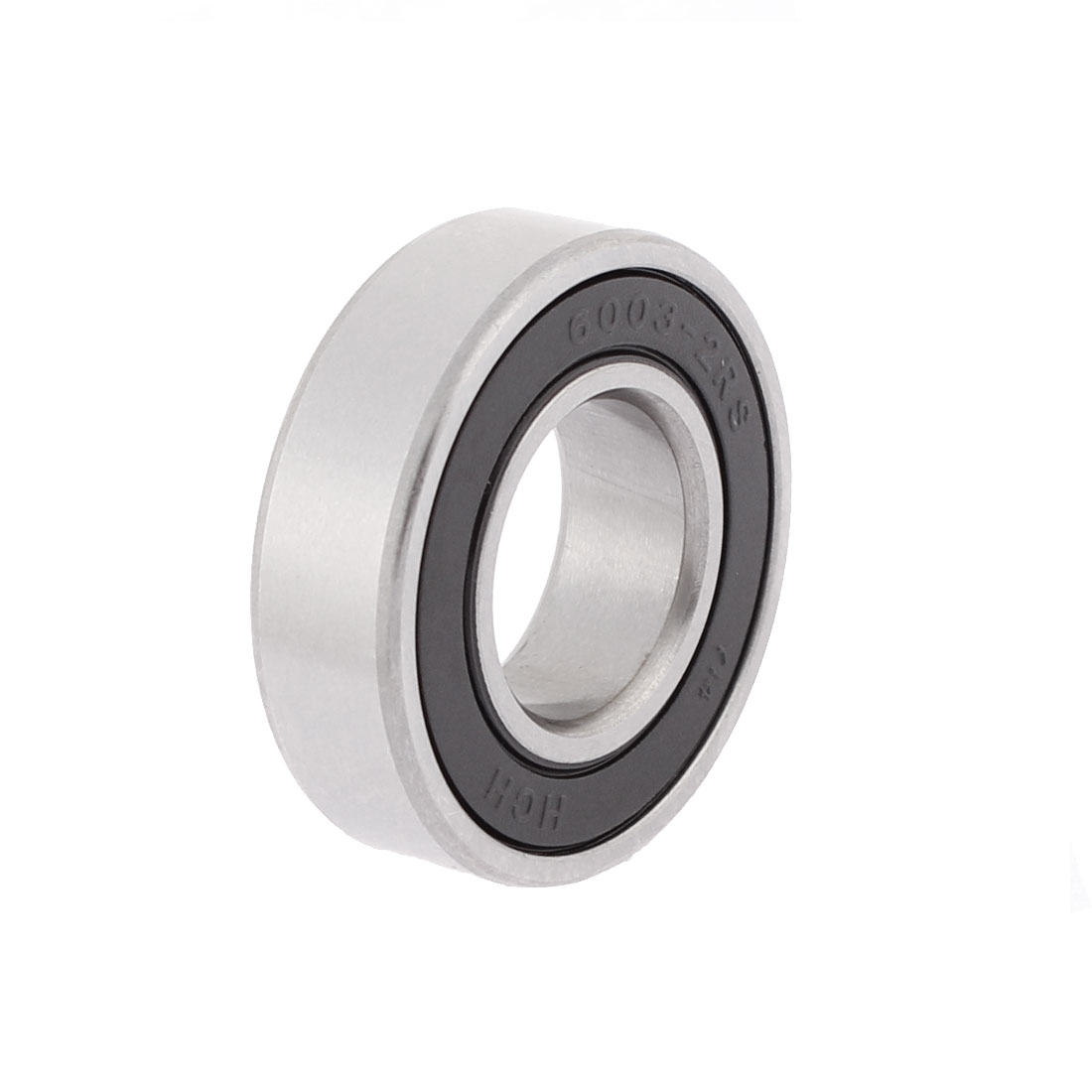 6003-2RS 34mm x 18mm x 10mm Double Shielded Metal Deep Groove Guide Pulley Rail Ball Wheel Bearings Silver Tone Black