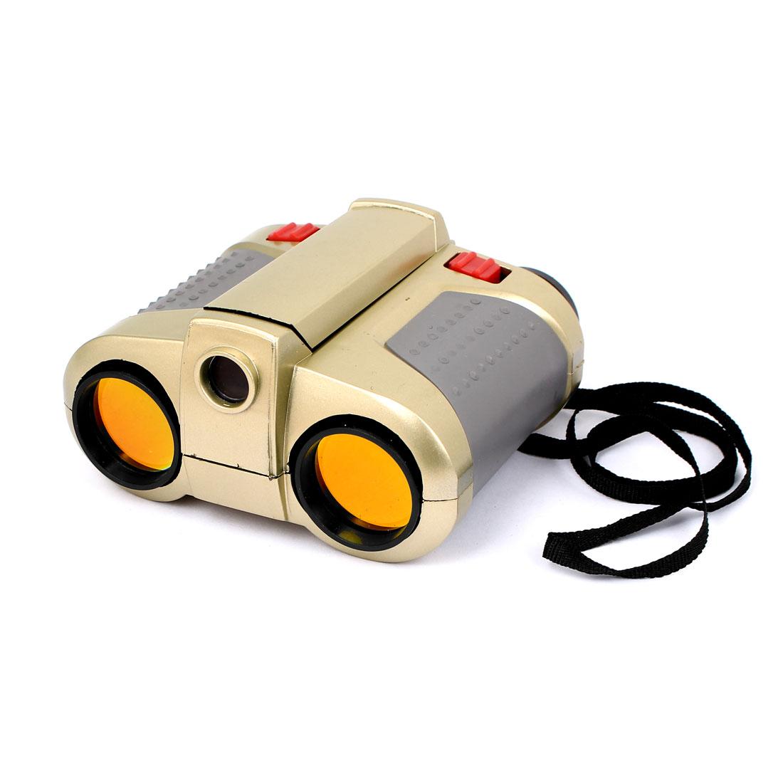 Children Orange Lens Light Night Vision Scope Function Telescope Binoculars Toy w Pop Up Spotlight