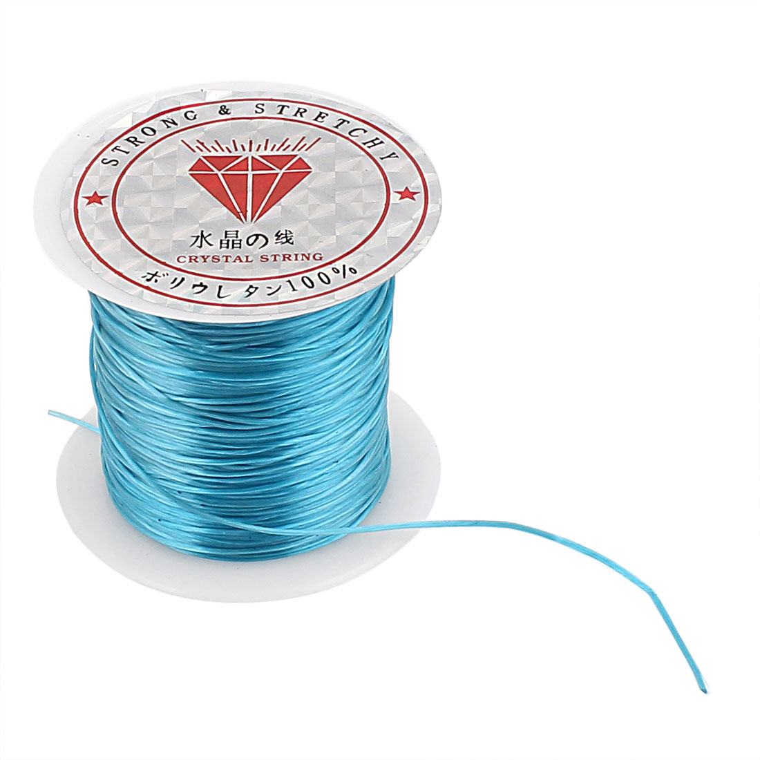 Stretchy Elastic Bracelet Making String Beading Thread Cord Roll Blue 10M Length