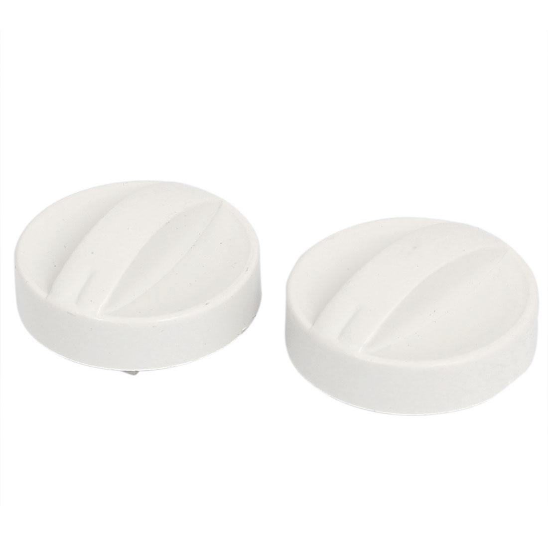 6mm Hole Dia Plastic Washing Machine Dryer Washer Timer Control Knob White 2Pcs