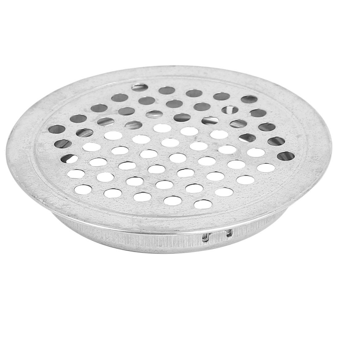 65mm Dia Home Kitchen Bathroom Floor Sink Basin Drain Strainer Silver Tone