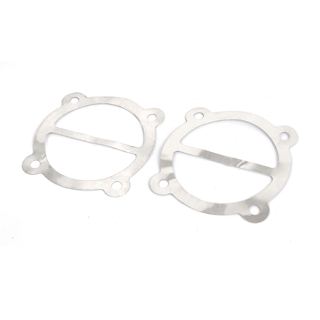 85mm OD Aluminum Air Compressor Engine Cylinder Head Gasket Silver Tone 2Pcs