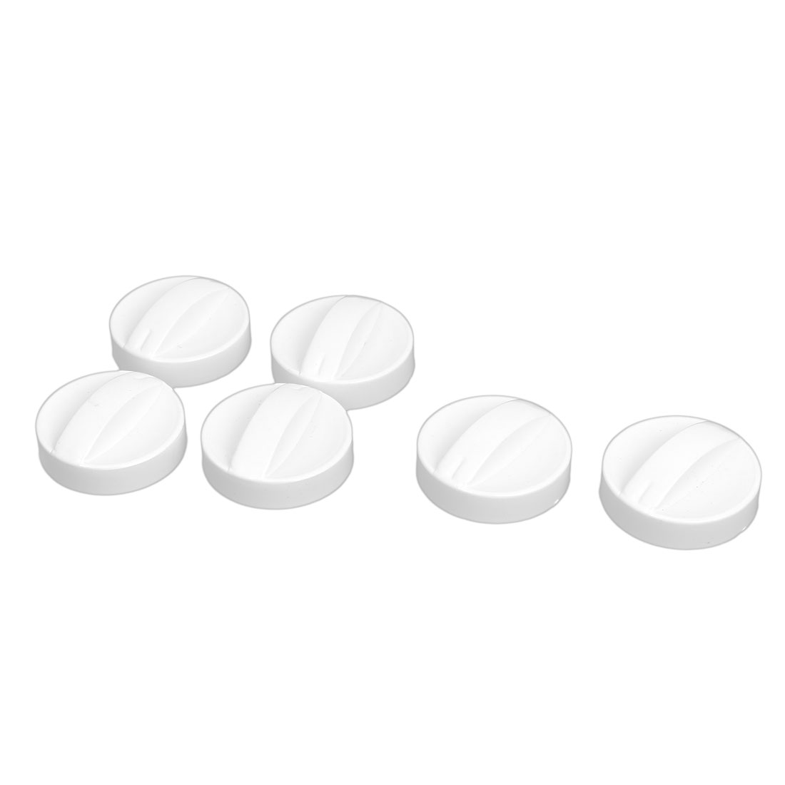 6mm Hole Dia Plastic Washing Machine Dryer Washer Timer Control Knob White 6Pcs