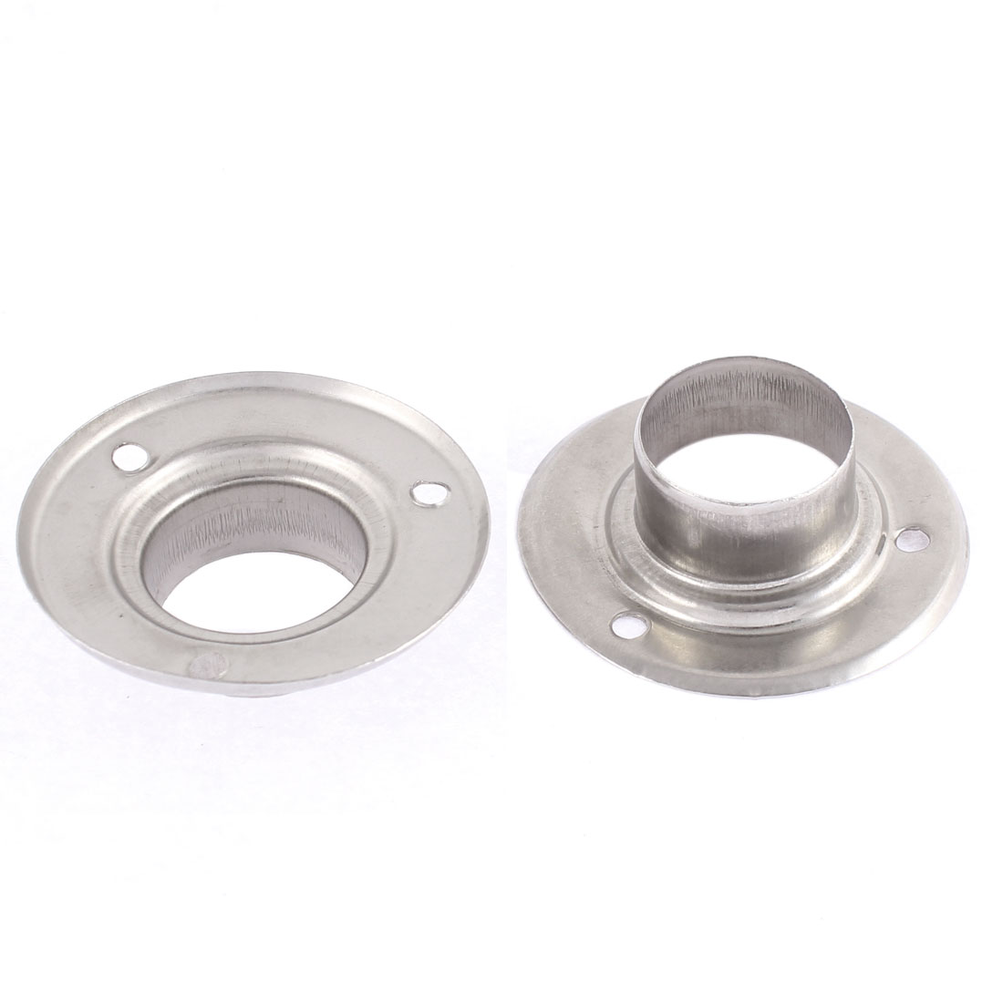 56mm x 17mm Stainless Steel Clothes Lever Socket Tube Weld Neck Flange 2 Pcs