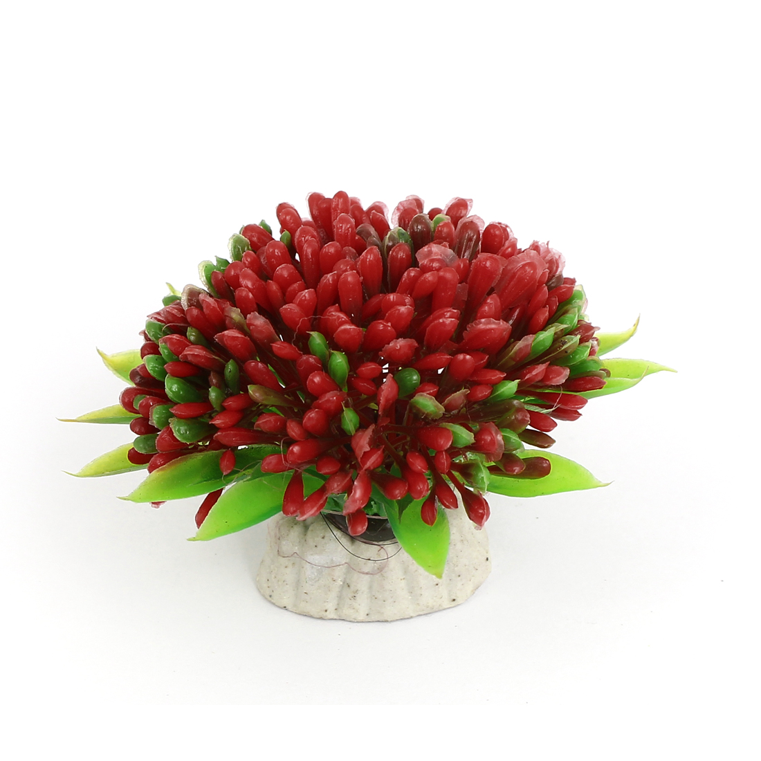Aquarium Fish Tank Bowl Artificial Simulated Plant Bouquet Decor Ornament Red