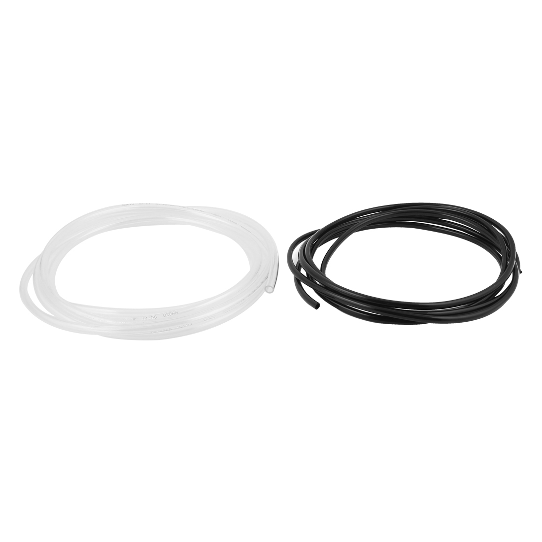 2pcs 3Meter 10Ft Long White Black Flexible Tubing Polyurethane PU Air Pneumatic Line Hose Pipe Tube