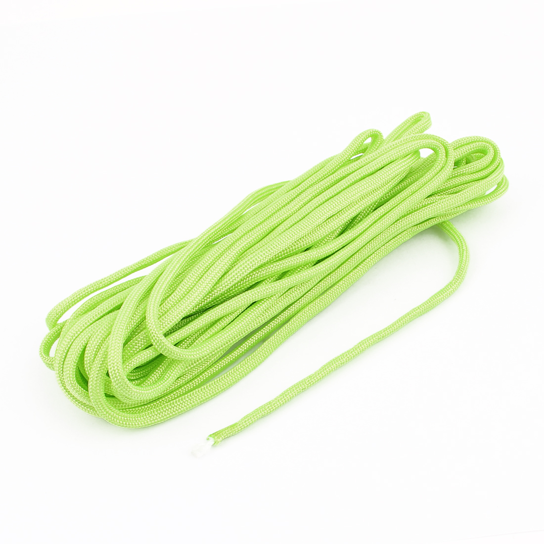 Outdoor Camping Hiking Survival Cord Safety Rope String Yellow Green 7M 23Ft Length