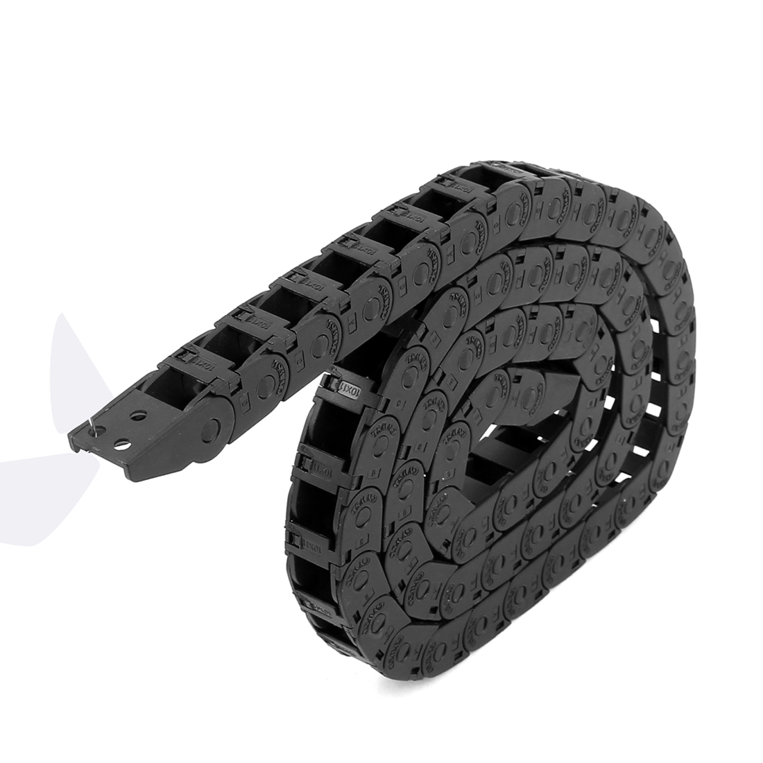 CNC Machine Plastic Open Type Towline Wire Cable Carrier Drag Chain 10mm x 11mm 100cm Length