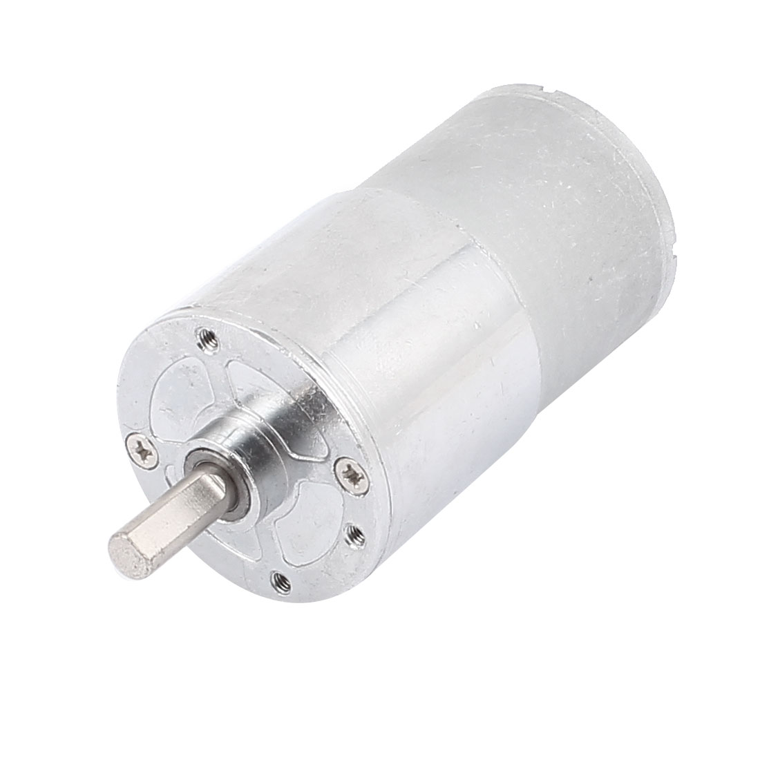 6mm Dia Shaft Soldering Pin Cylinder Gear Box Electric DC Geared Motor 12V 5RPM Speed