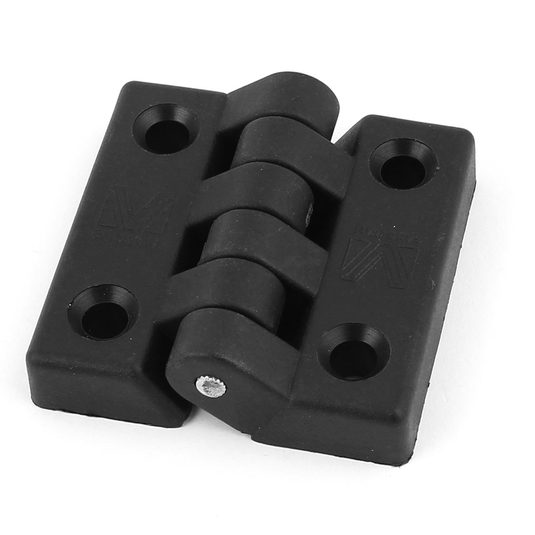 Black Plastic Foldable Cabinet Cupboard Gate Door Flap Butt Ball Bearing Hinge