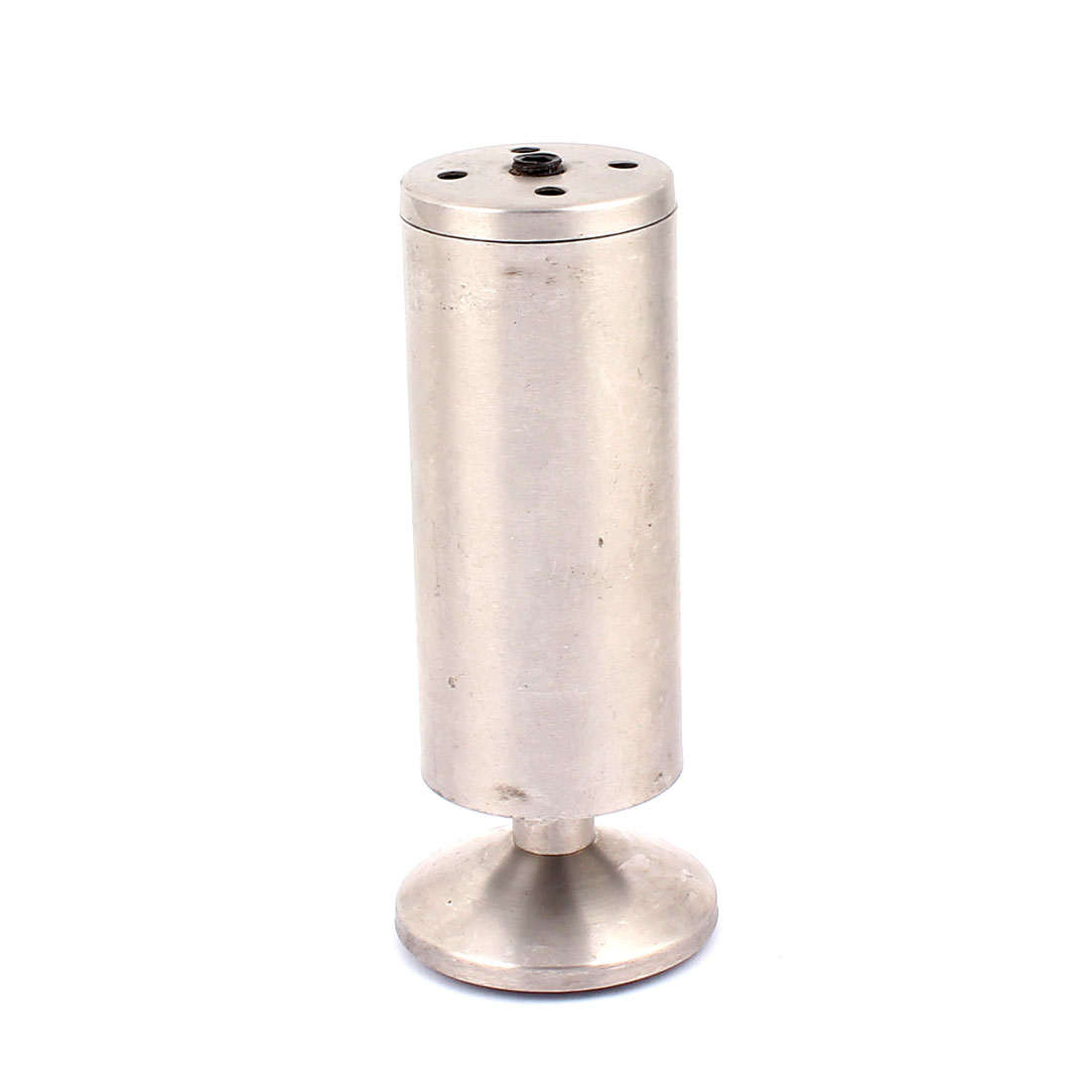 Stainless Steel Round Stand Adjustable Furniture Sofa Bed Cabinet Leg Support 50mm x 150mm