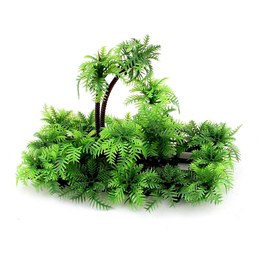 Green Plastic Artificial Aquarium Plant Aquatic Grass Ornament for Fishbowl Fish Tank