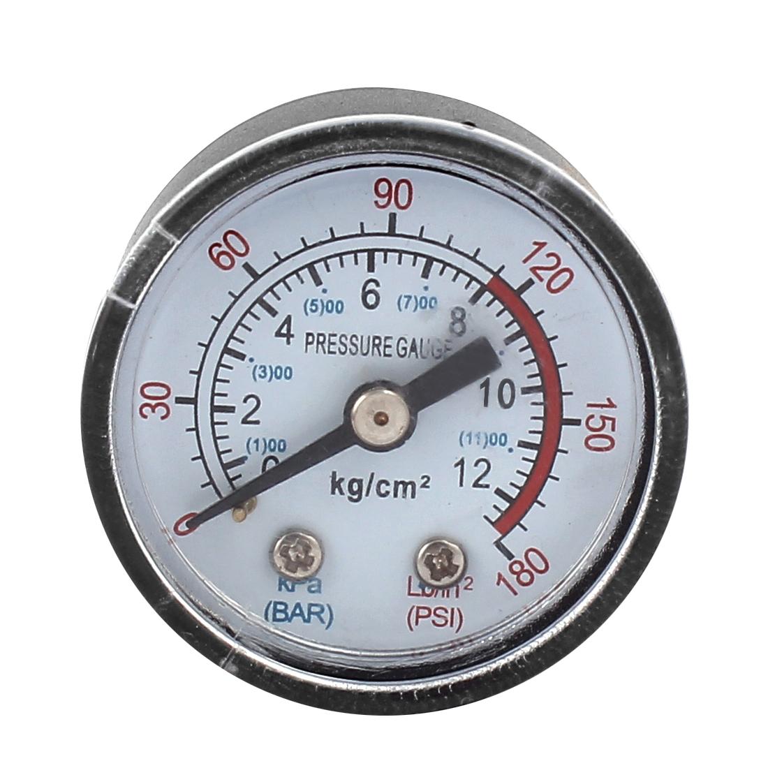 1/8BSP Male Thread Diameter Air Compressor Barometer Measurement Tool 0-12KPa 0-180 Psi