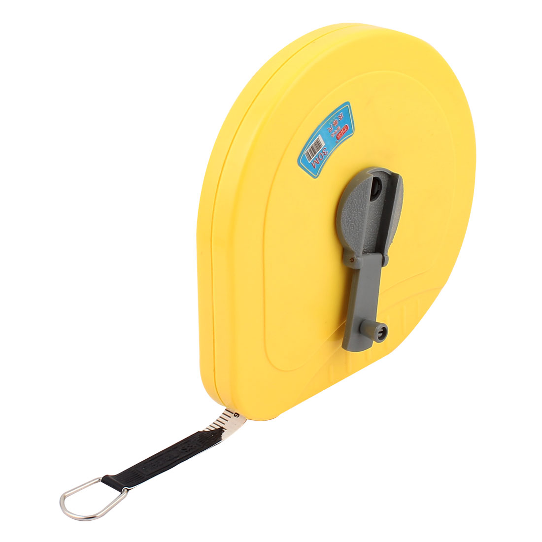Yellow Plastic Housing Retractable Fiberglass Tape Measure Ruler Measuring Tool 30M Scale Range