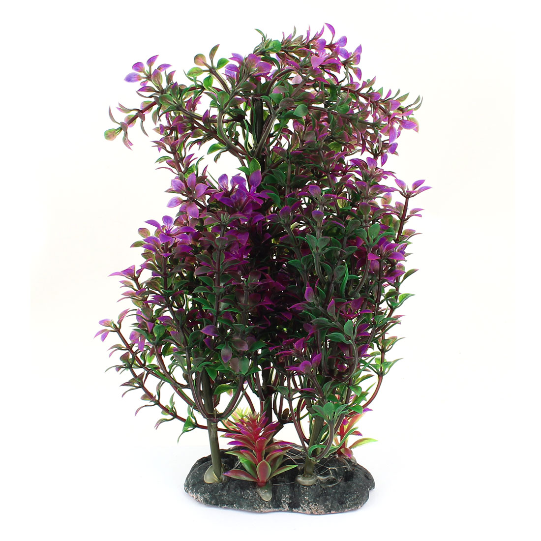 Green Purple Plastic Emulational Aquarium Underwater Plant Ornament for Fishbowl Fish Tank