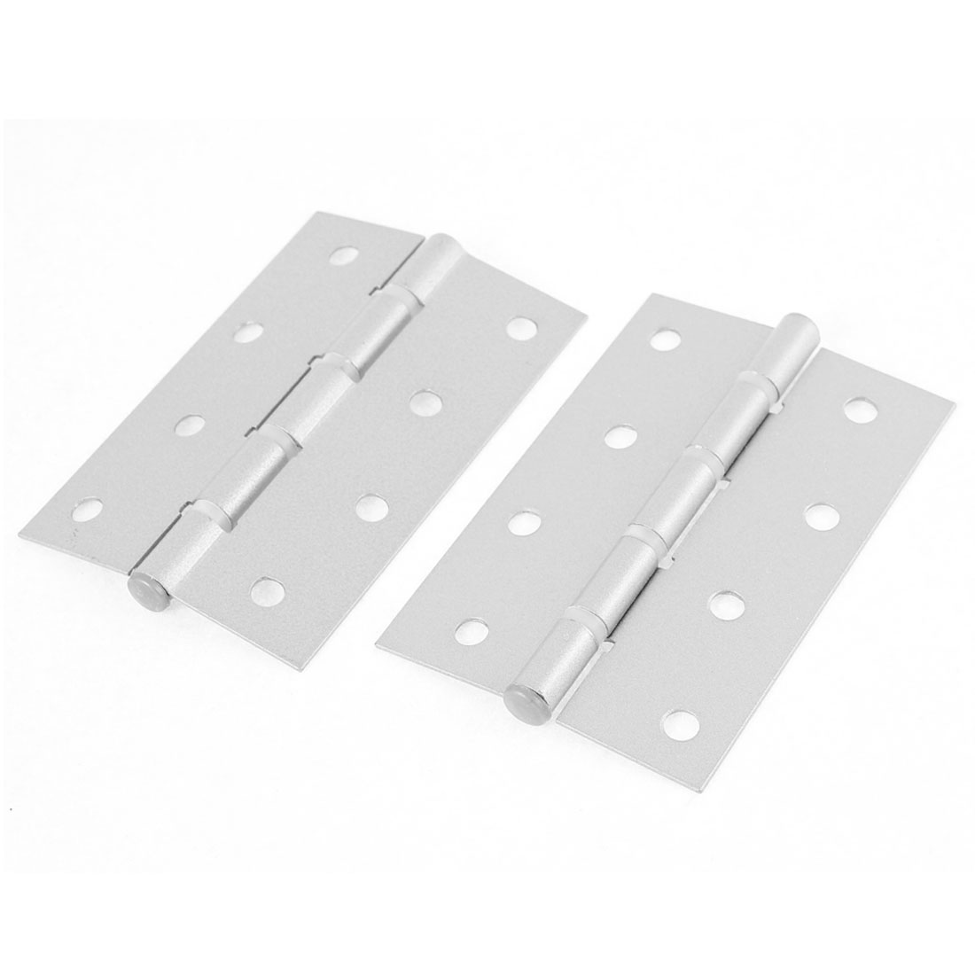 100mm x 65mm Metal Ball Bearing Hinges Silver Tone 2pcs for Door Window