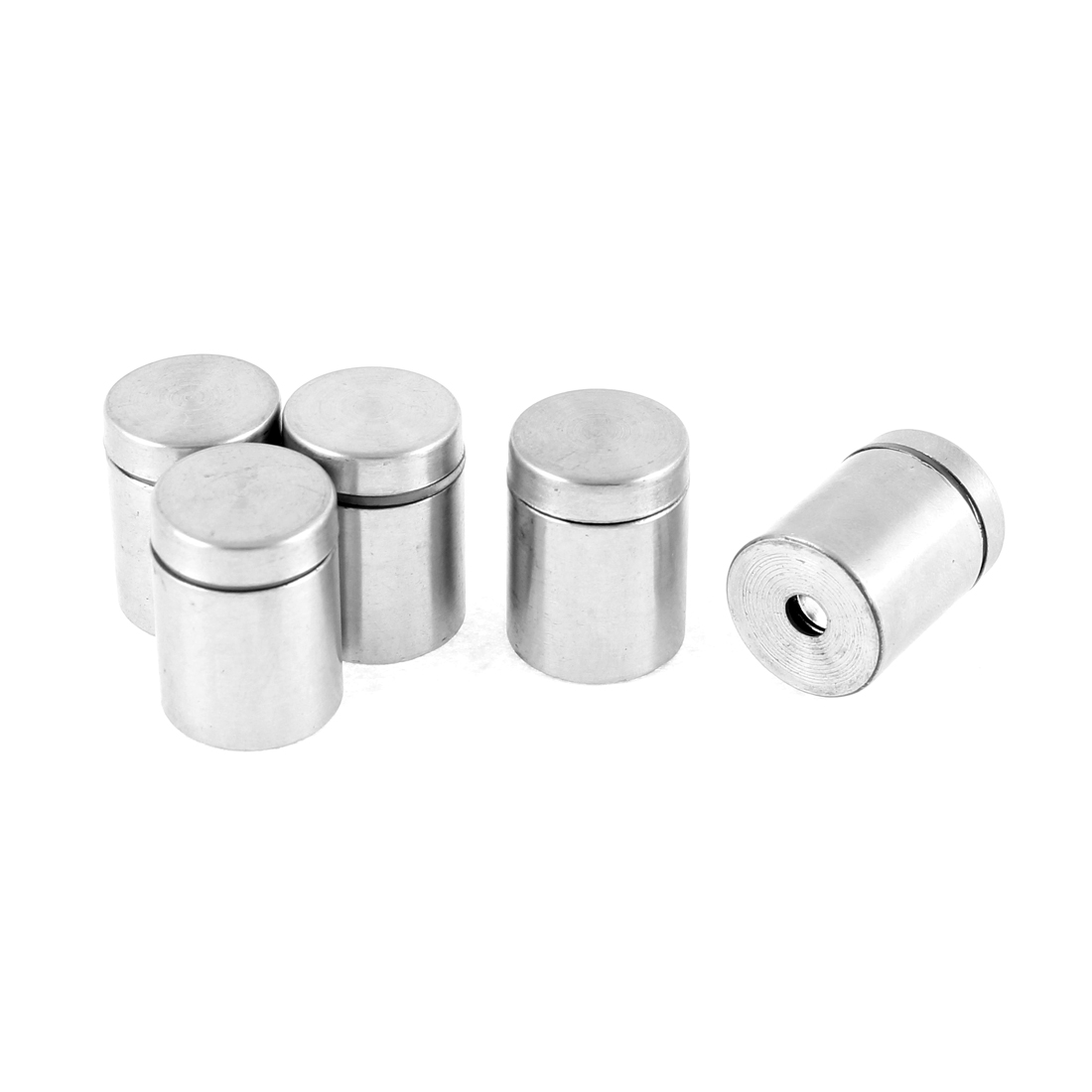 19mm x 25mm Stainless Steel Glass Standoff Hardware Silver Tone 5pcs