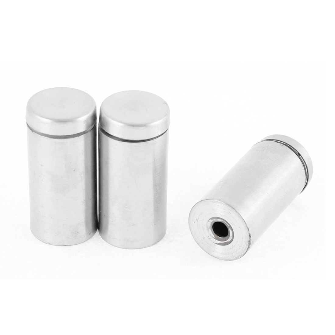 3pcs Stainless Steel Glass Standoff Hardware Silver Tone 19mm x 40mm