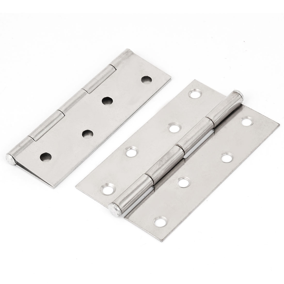"4"" Long Stainless Steel Rotatable Rectangle Shape Door Hinges Parts 2pcs"