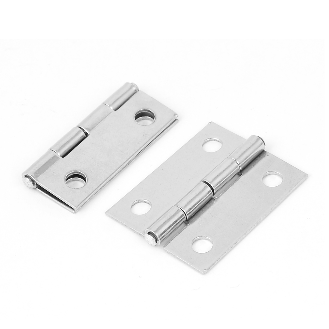 """1.5"""" Stainless Steel Door Butt Hinges Hardware Silver Tone 2pcs"""