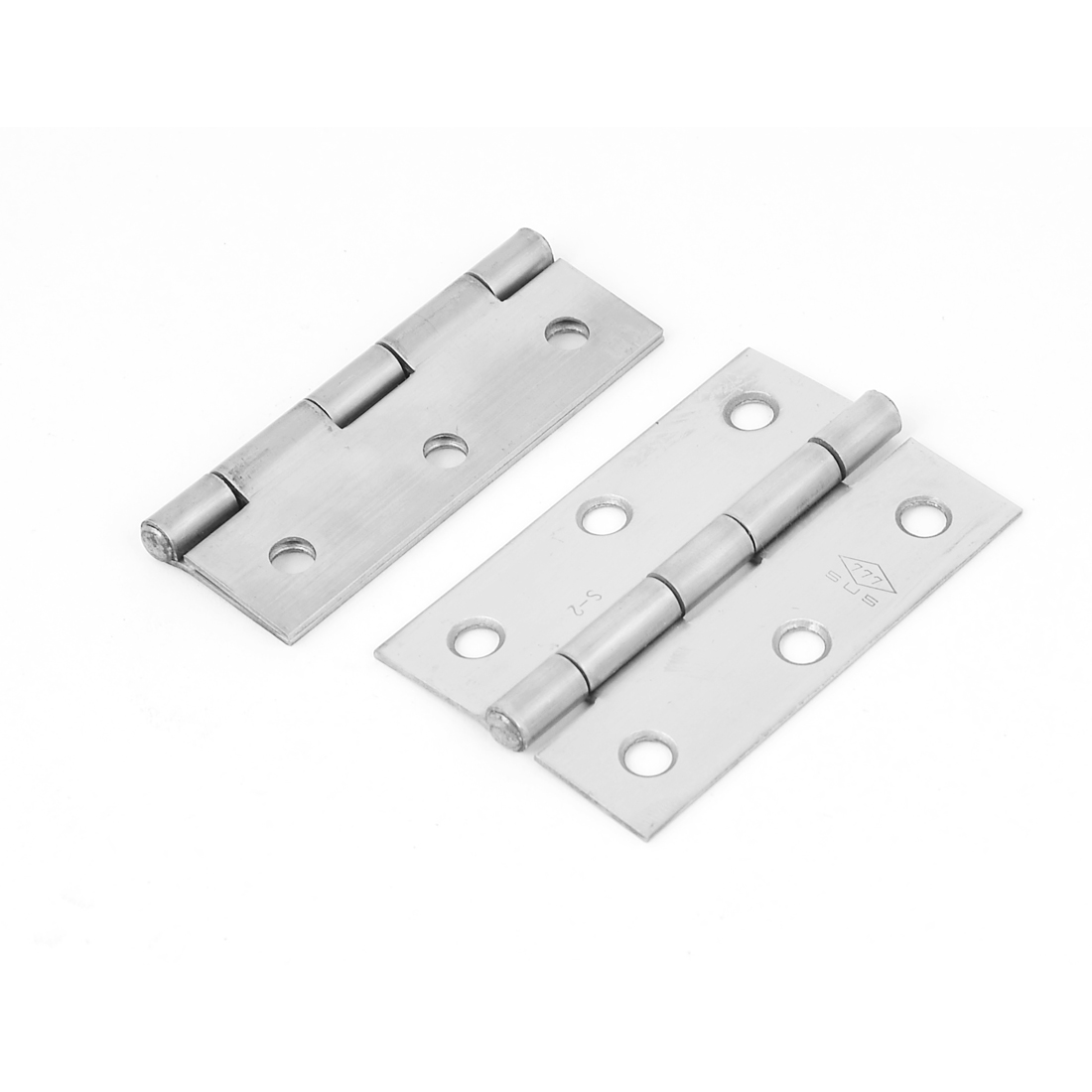 """2.5"""" Length 6 Mounting Hole Stainless Steel Cabinet Door Butt Hinge 2pcs"""