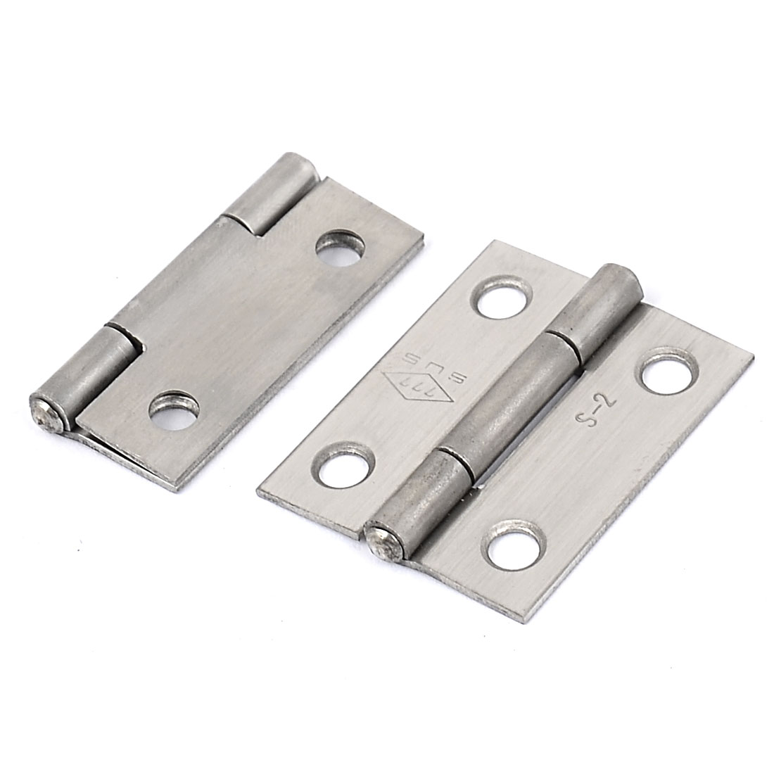 40mm x 30mm Stainless Steel Rotatable Folding Door Butt Hinges 2pcs