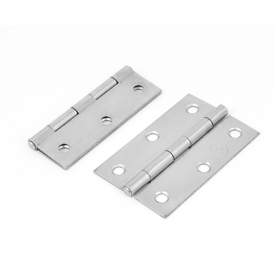 80mmx50mm Metal Rectangular Folding Closet Cabinet Door Butt Hinge 2pcs