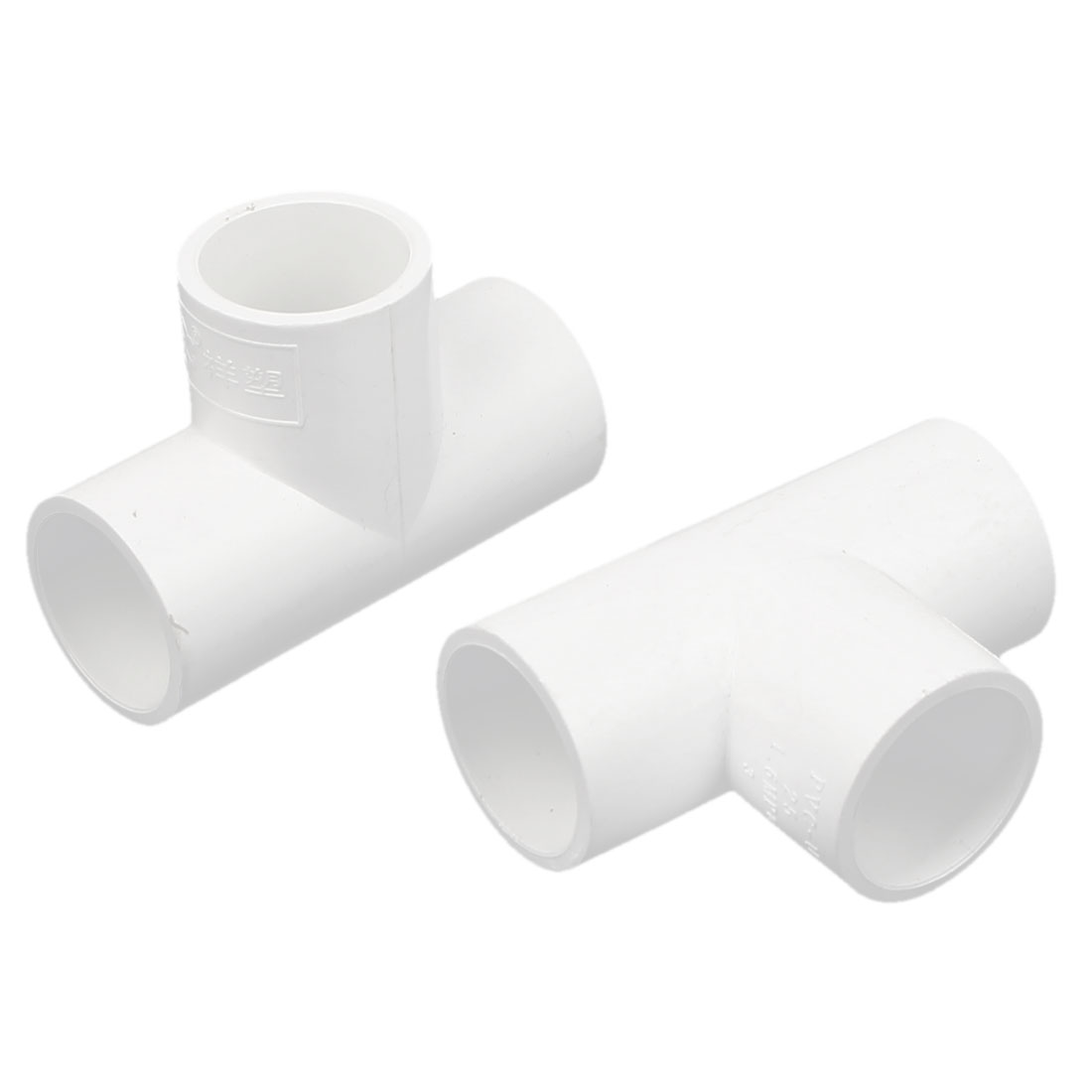 25mm Inner Dia 3 Way T Shaped PVC Water Pipe Tube Joint Coupler Connector 2pcs