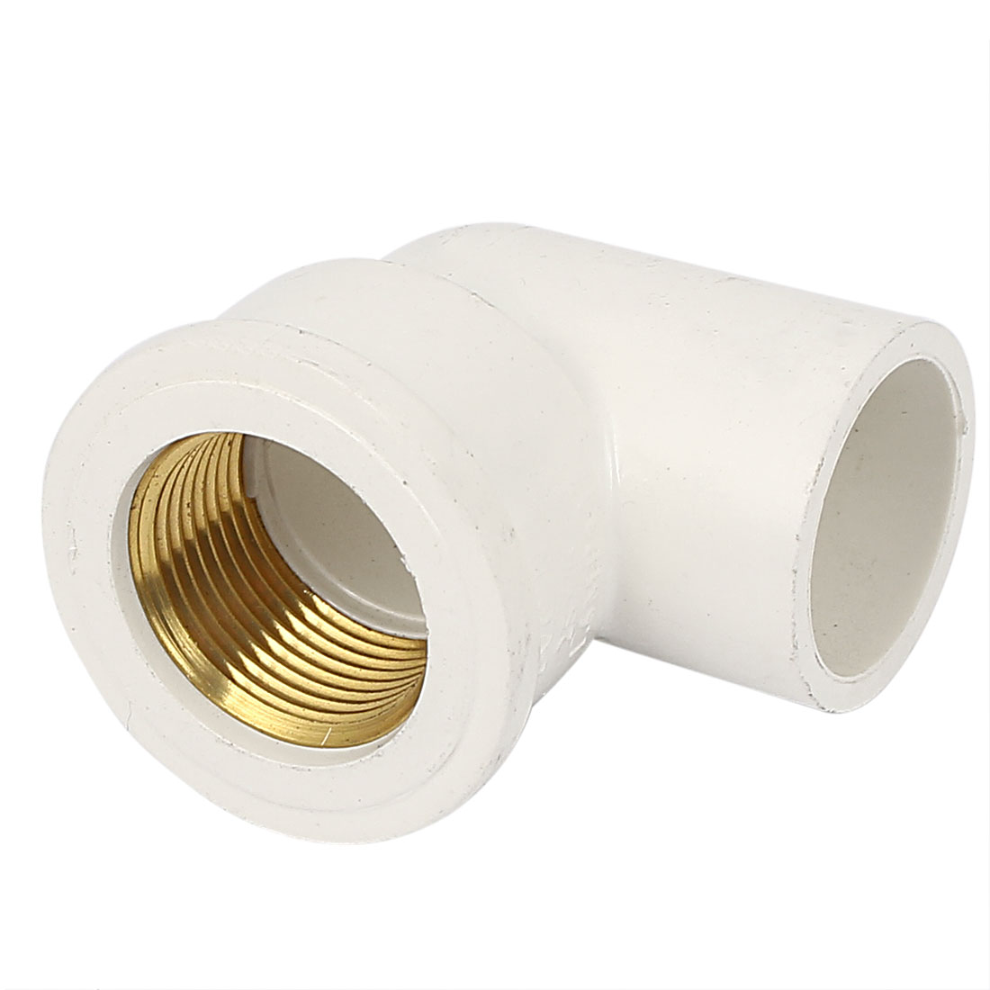 25mm 3/4BSP Female Thread Elbow PVC-U Pipe Tube Connecting Fitting Coupler White