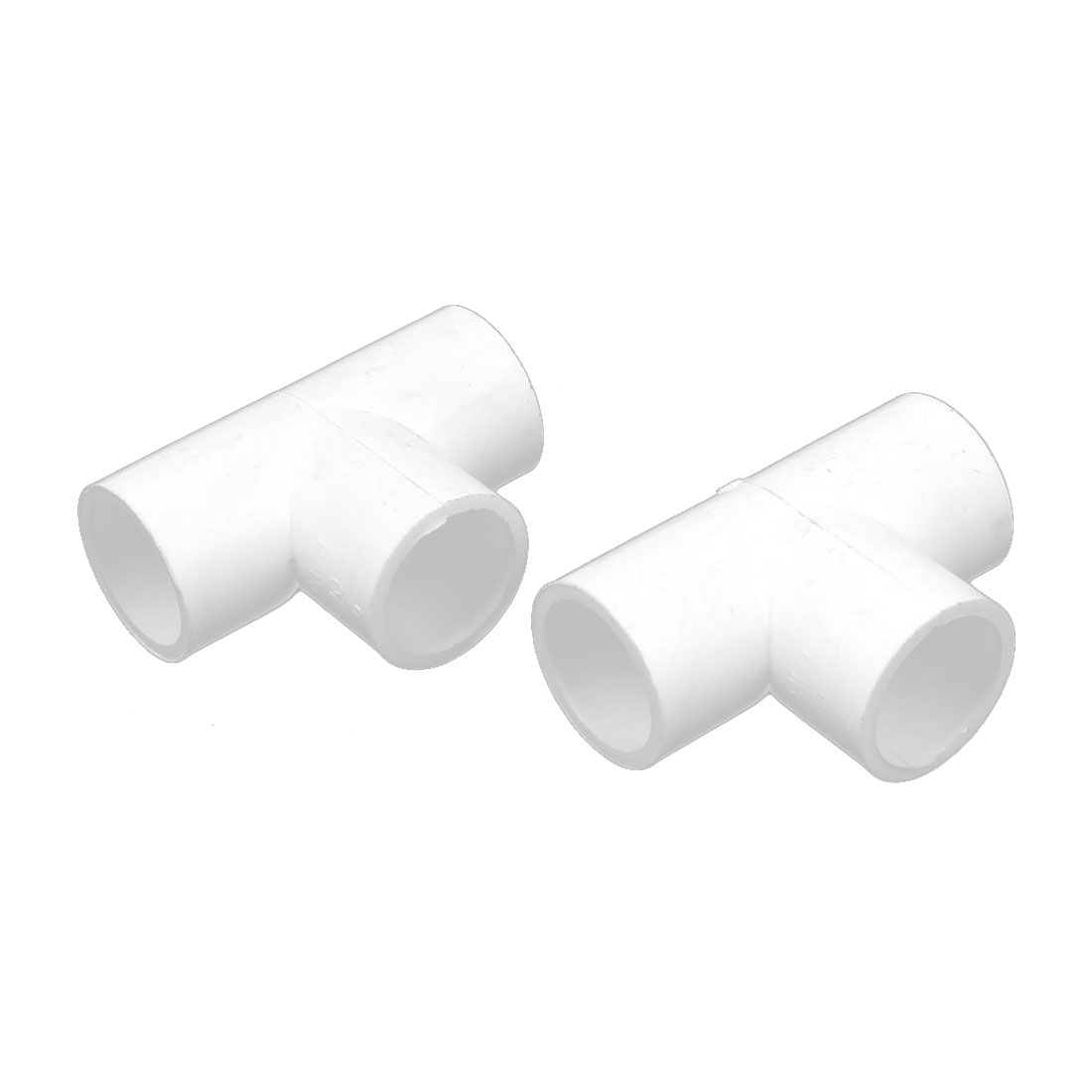 20mm Inner Dia 3 Way T Shaped PVC Water Pipe Tube Joint Coupler Connector 2pcs