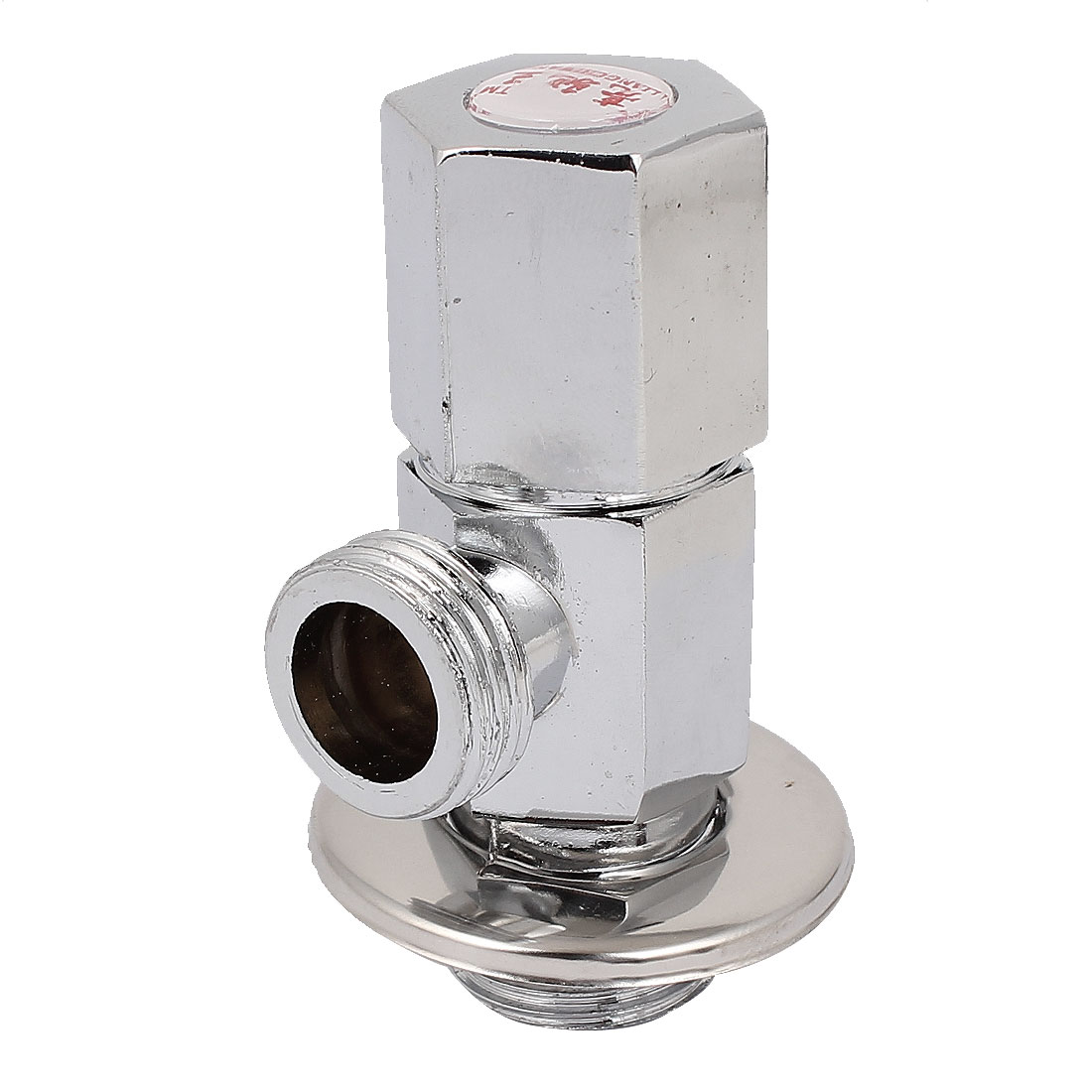 Bathroom 1/2BSP Male Thread Metal Multi Turn Angle Stop Valve Silver Tone