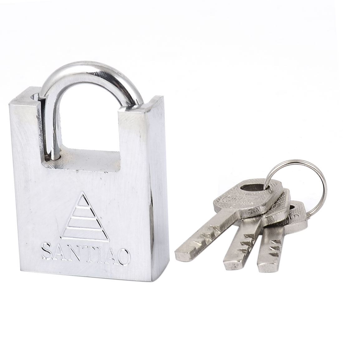 Home Offics Door Hardened Closed Shackle Security Padlock Lock 40mm Width w 3 Keys