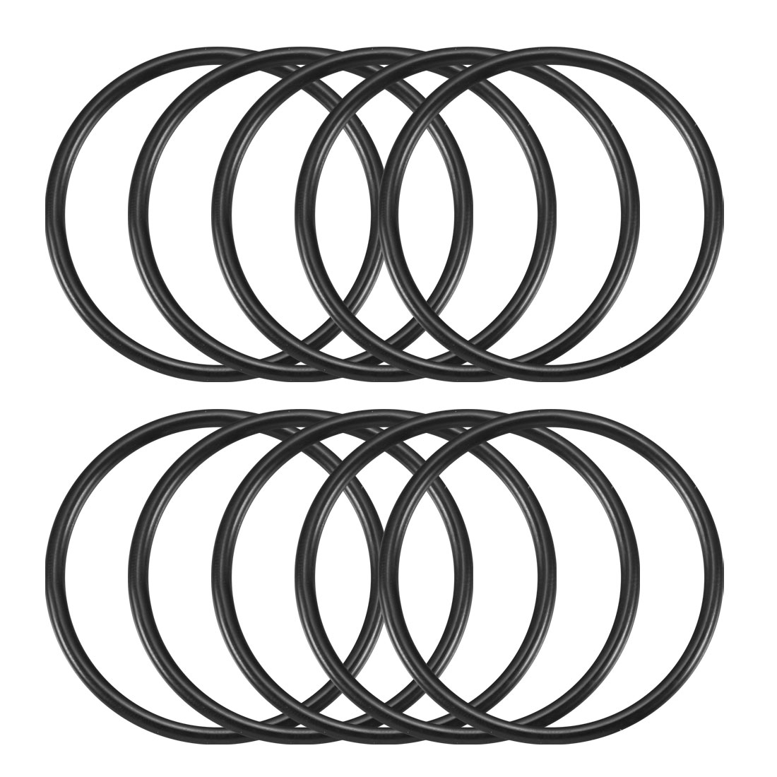 10 Pcs 50mm x 3mm Black Flexible O-Shaped O Rings Washers Gaskets Grommets Rubber Sealing Oil Filter