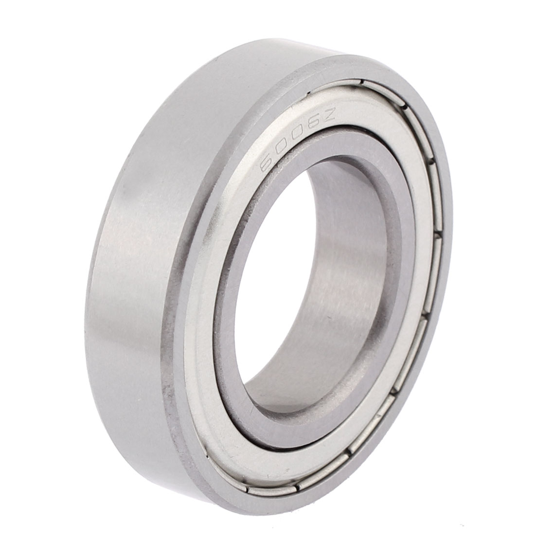 54mm x 31mm x 13mm Double Shielded 6006Z Metal Deep Groove Guide Pulley Rail Ball Wheel Bearings Silver Tone