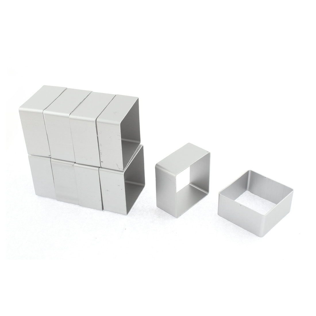 48mm x 48mm x 23mm Cookie Biscuit Baking Cake Square Aluminum DIY Mold Mould Cutter 10pcs