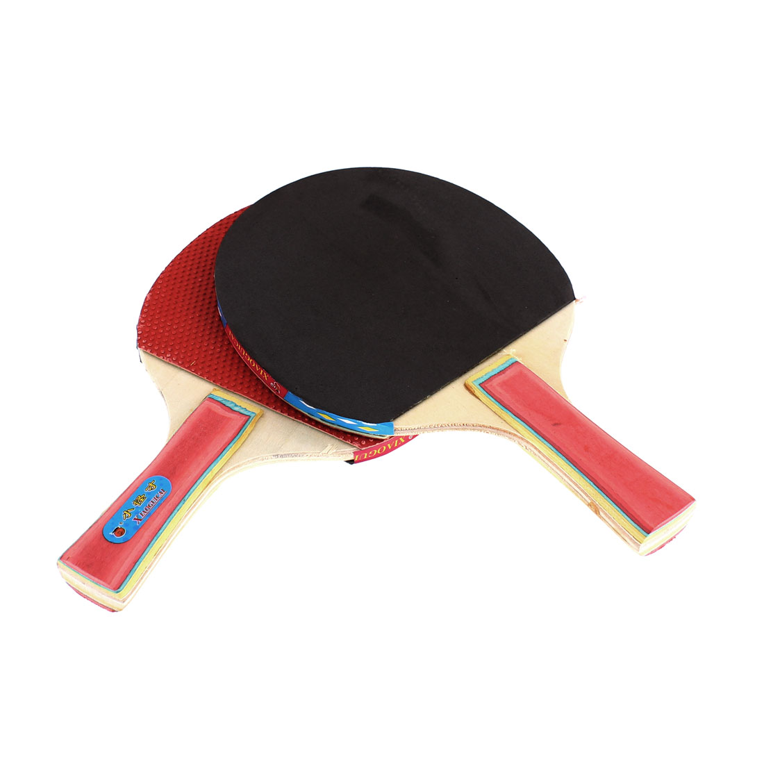 Ping Pong Paddles Penhold Recreational Colorful Handle Table Tennis Bat Racket Racquet Red Gray Pair