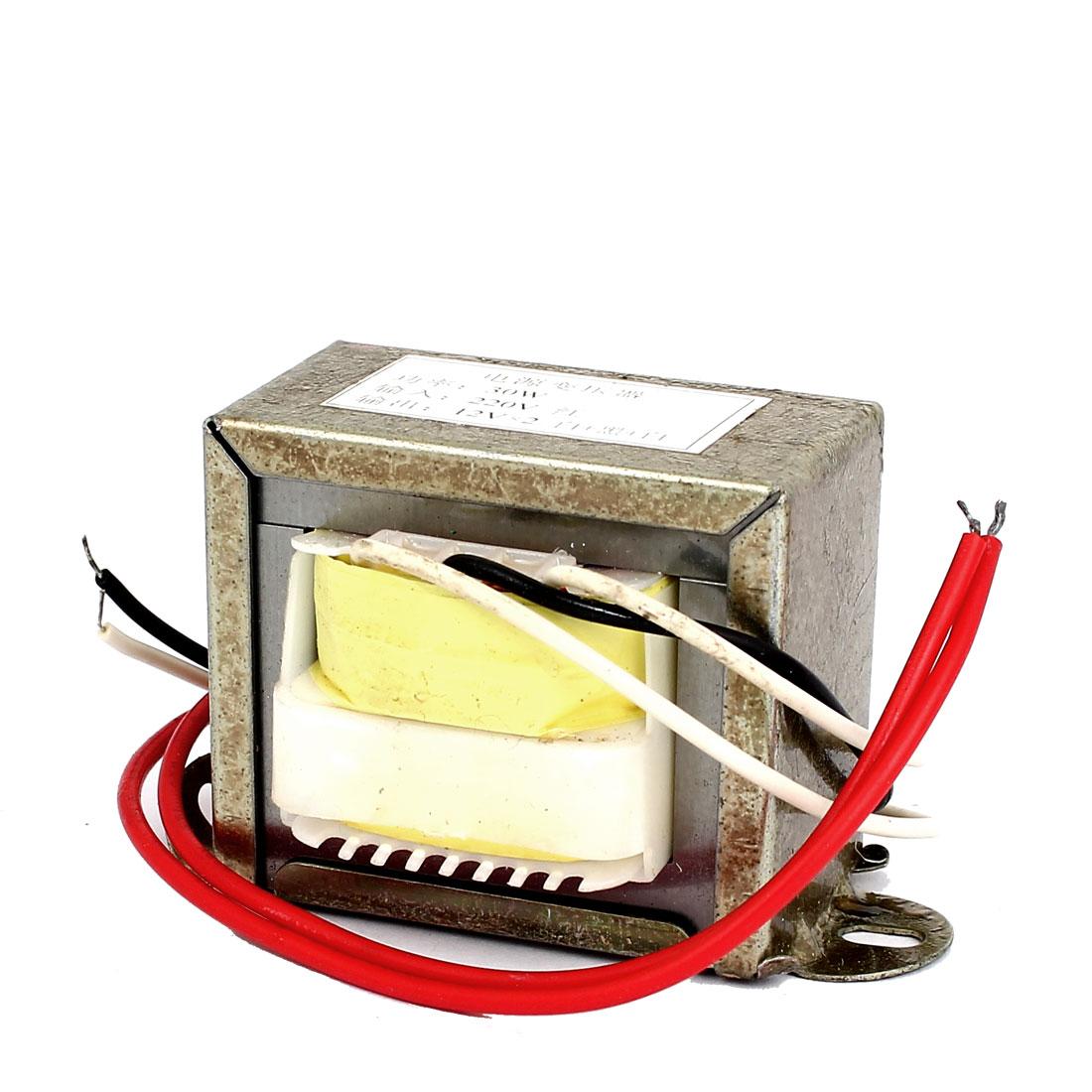 220V Input 12V 30W Output Vertical Mount EI Core Power Transformer