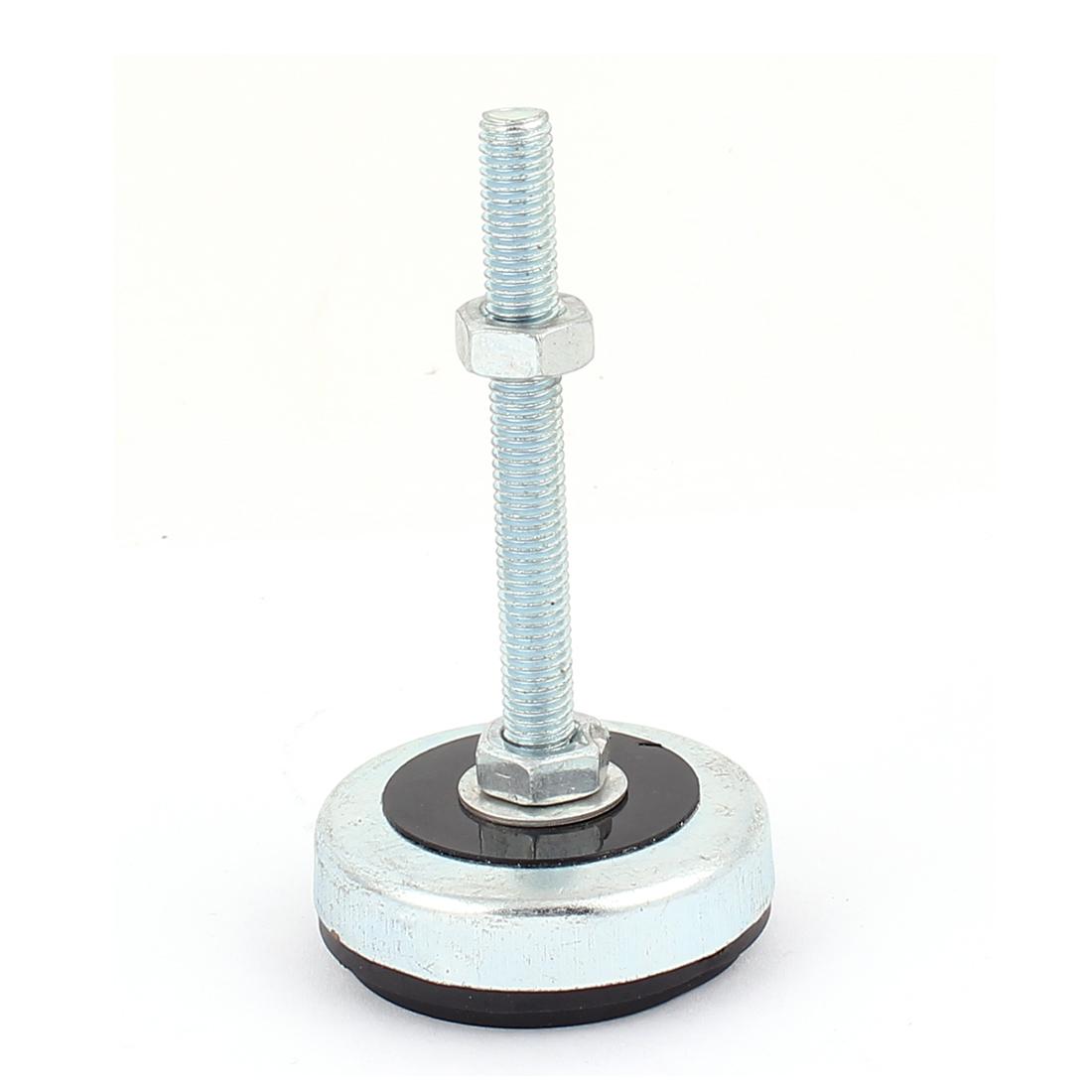 8mm x 75mm Thread 50mm Base Dia Screw On Design Furniture Glide Leveling Foot Adjuster