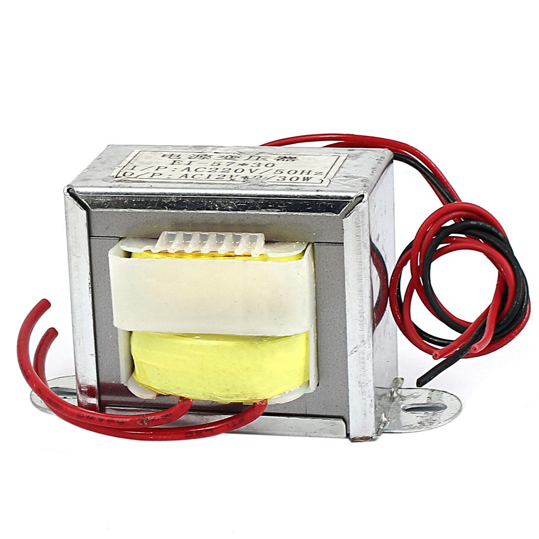 220V 50Hz Input 12V 30W Output Vertical Mount EI Core Power Transformer